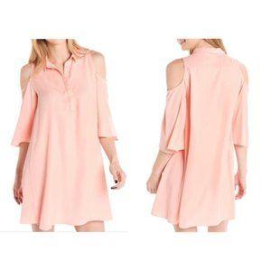 NWT Do + Be Spring Peach Cold Shoulder Dress